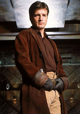 Captain Mal Reynolds, my favorite character.  I admire the soft-spoken strength and resolve that he demonstrates throughout Firefly.
