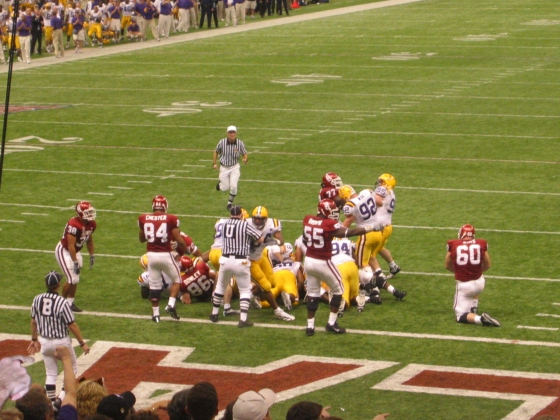 Oklahoma and LSU playing for what ended up being half of the national championship in 2003.