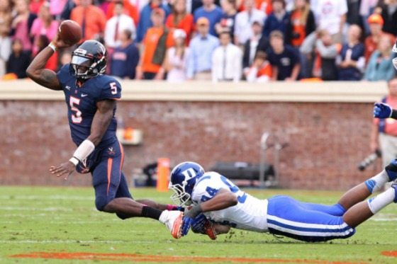 Current Virginia quarterback David Watford has grossly underachieved since arriving in Charlottesville.