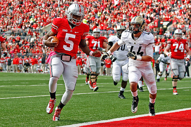 Quarterback Braxton Miller has been a big part of Ohio State's success this season, tossing 21 TD passes against just 5 INTs, passing for 1,759 yards and running for another 891.