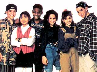 Members of the Ghostwriter Team (from left): Alex, Tina, Jamal, Lenni, Gaby, and Rob