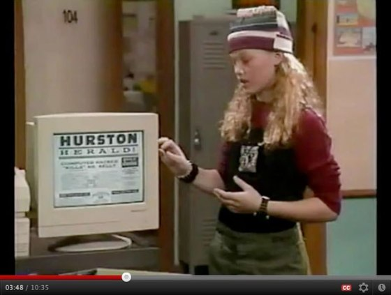 "A young Julia Stiles makes an appearance as a hacker on the tech-savvy story arc called ""Who Is Max Mouse?"""