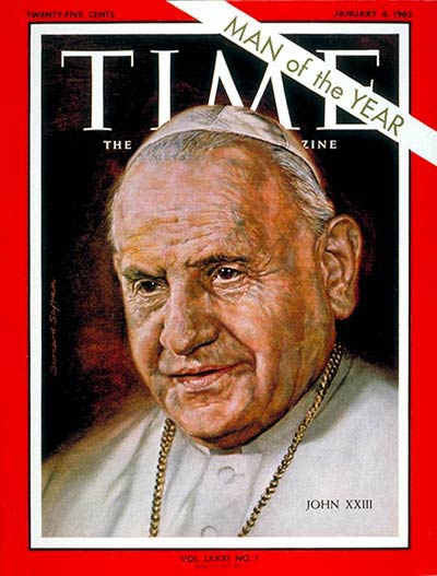 John XXIII was the first Pope to be named TIME's Person of the Year, a feat repeated by Popes John Paul II and Francis.