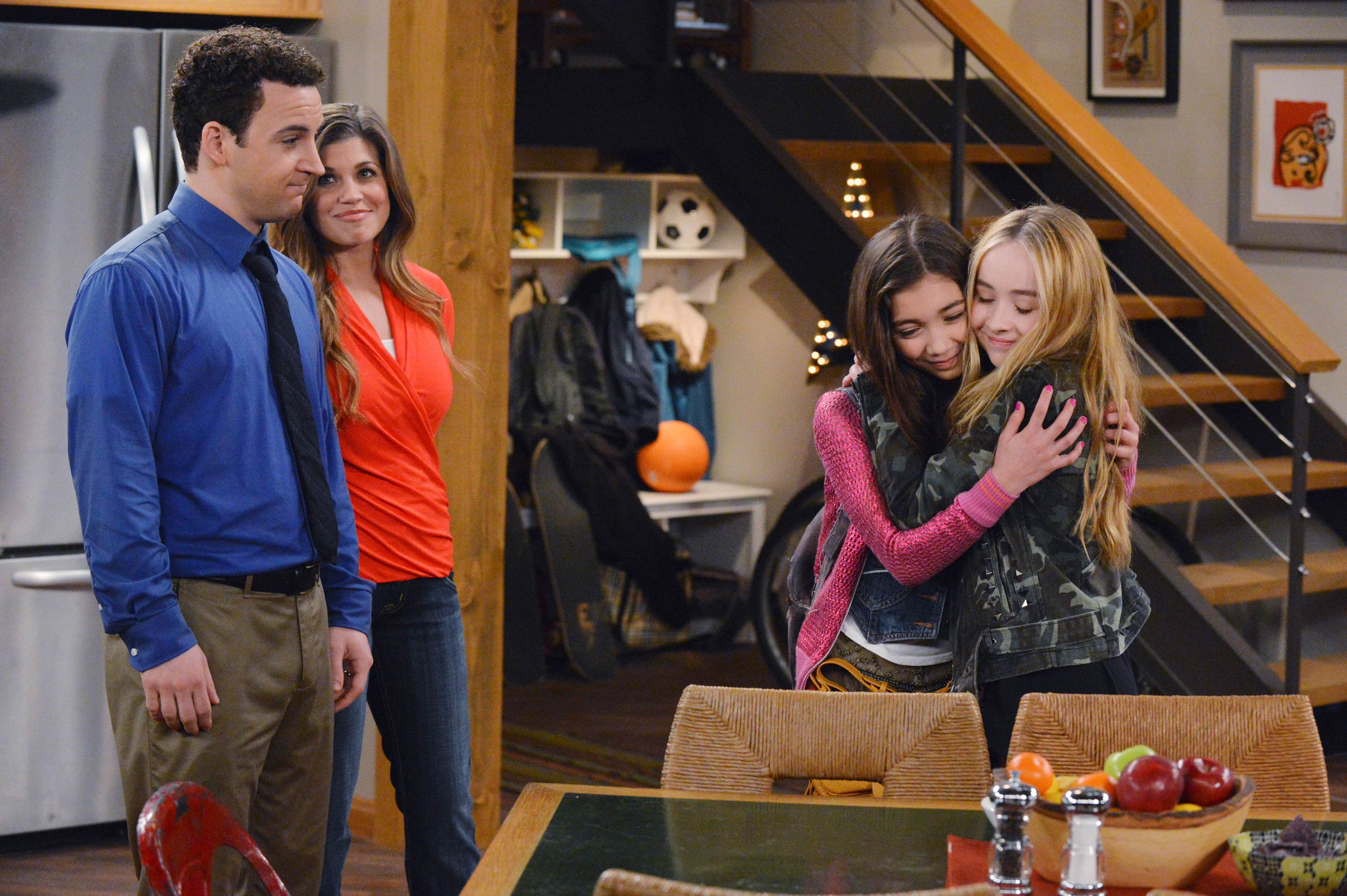 Some of the main cast of Girl Meets World (from left): Cory & Topanga ...