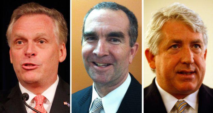 Terry McAuliffe, Ralph Northam, and Mark Herring