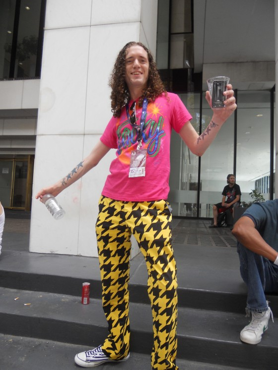 The best unexpected costume of the con belonged to this guy, who dressed as Weird Al Yankovic.