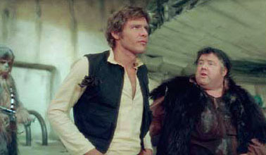 The original Han/Jabba deleted scene, with an actor playing Jabba.