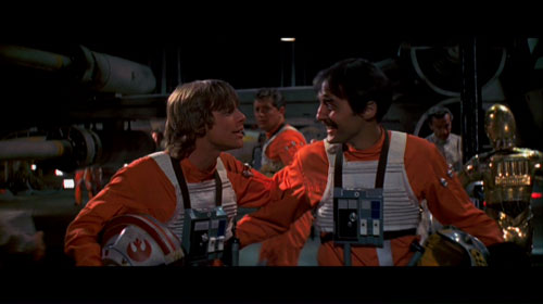 Luke & Biggs's reunion, reinserted into the Special Edition