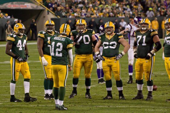 The Packers offensive line steadily improved as the season went on.