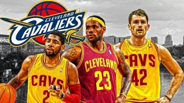Kyrie Irving, LeBron James, & Kevin Love