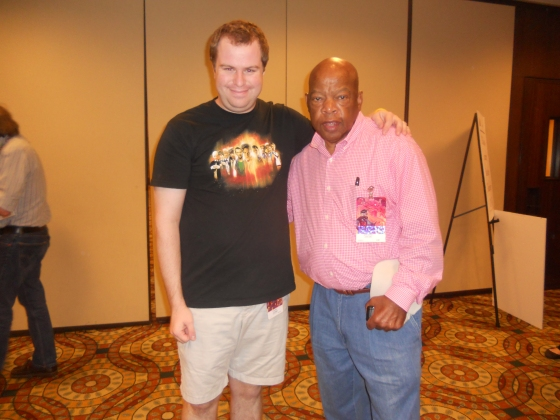 Me with Congressman and Civil Rights leader John Lewis (D-GA)