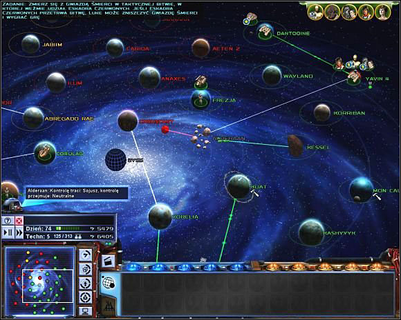 """The """"Risk board"""" interface of Empire at War."""