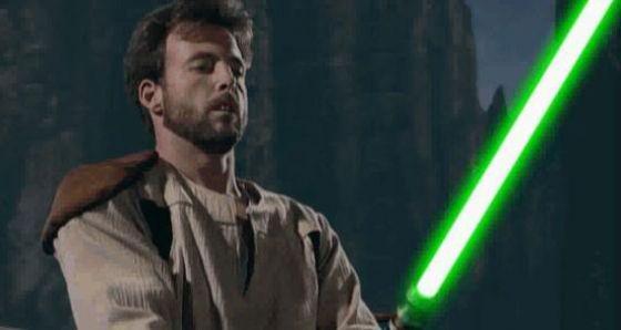 Actor Jason Court portrayed Kyle Katarn in Jedi Knight's live-action cutscenes.