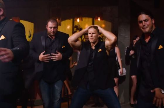 Clay Matthews, along with several offensive lineman, appeared in the movie Pitch Perfect 2 over the summer.