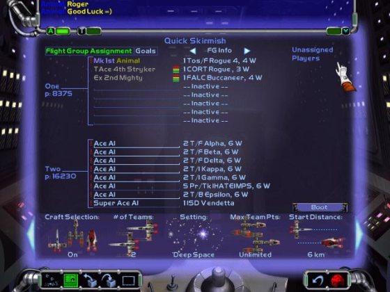X-Wing Alliance's Quick Skirmish mode
