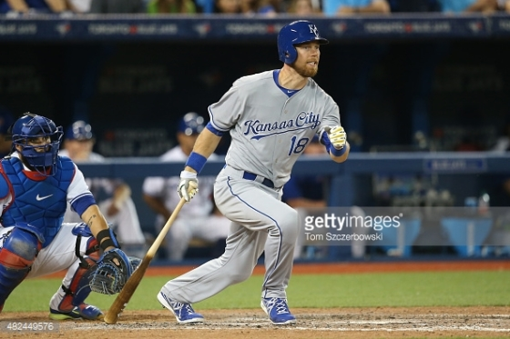 The Royals' Ben Zobrist could be a target in free agency to fill the O's leadoff spot.