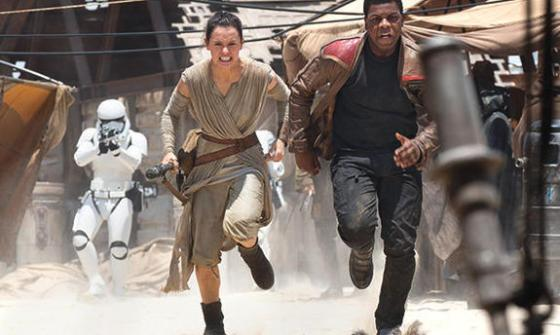 New characters Rey (Daisy Ridley) and Finn (John Boyega) inject new blood into the Star Wars franchise.