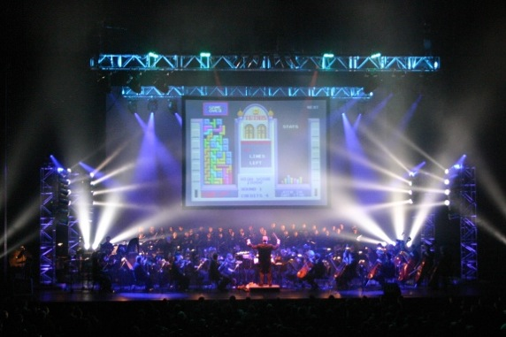 This is just a small sampling of the multifaceted VGL experience, as the orchestra plays along with scenes from Tetris.
