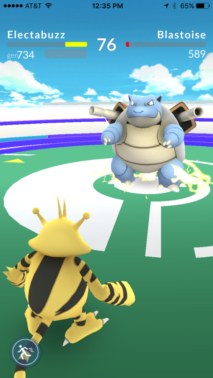 The battle system is one of Pokémon Go's weaknesses.