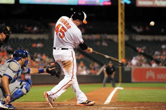 Mark Trumbo did this quite a few times this year.