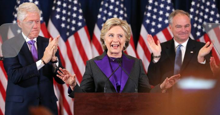 Hillary Clinton during her concession speech.