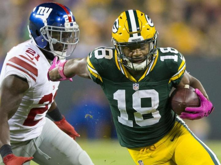 Randall Cobb had a huge game against the Giants in the wild-card game.